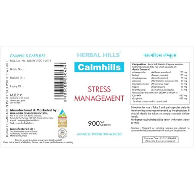 Herbal Hills Calmhills - Value Pack 900 Capsule