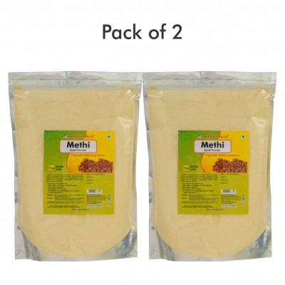 Herbal Hills Methi Seed Powder - 1kg - Pack of 2
