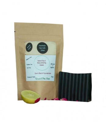 Wood And Petals Handmade Panchgavya Ubtan or body scrub