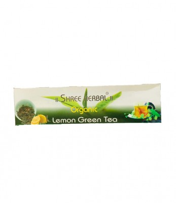Shree Herbal Organic Lemon Green Tea (Dip)