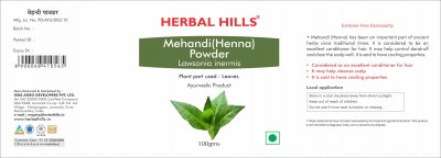 Herbal Hills Mehandi powder - 100 gms - Pack of 2