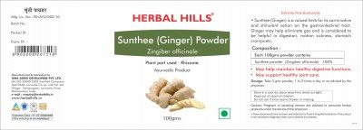 Sunthee (Ginger) Powder - 100 gms - Pack of 2