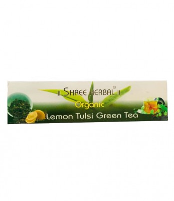 Shree Herbal Organic Lemon Tulsi Green Tea (Dip)