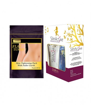 Flat Tummy Skin Tightening Pack with SlimActives Shape Up Combo Oil