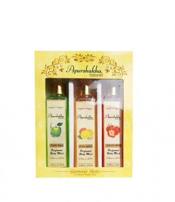 Ayurshakha Naturals Perfumed Body Mist Citrus Splash + Exotic Appy + Seductive Berry