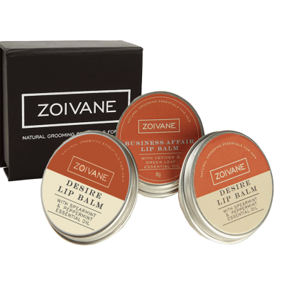 Zoivane Men Natural Lip Balm Pack of Desire (2 piece) and Business affair Lip balm For Men(1 Piece)