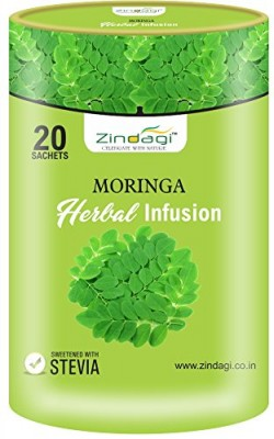Zindagi Moringa Herbal Infusion - Natural Herbal Infusion (20 Sachets)