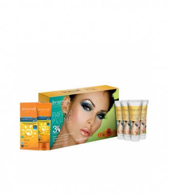 Aryanveda Papaya Plump 3X Home Spa Kit with SPF-50 combo pack