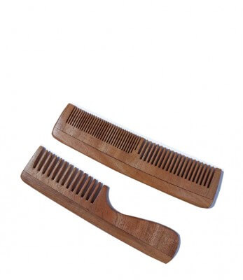 Woods and Petals Neem Wood combs ( Set of 2)