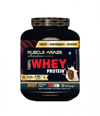 Muscle Amaze Super Whey Protein 6.6 Lbs Chocolate