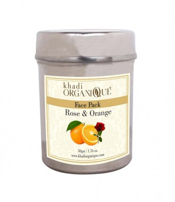 Khadi Organique Rose And Orange Face Pack