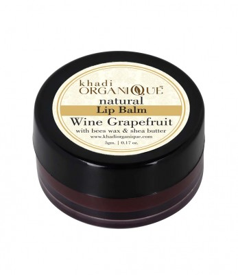 Khadi Organique Wine Grapefruit Lip Balm