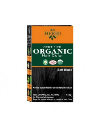 Organic Hair Color - Soft Black