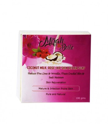 Mirah Belle Naturals Coconut Milk Rose Hip Skin Repair Soap