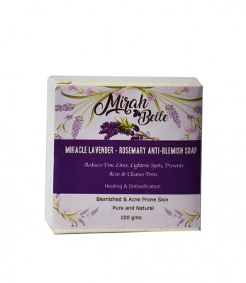 Mirah Belle Naturals Miracle Lavender Rosemary Anti Blemish Soap