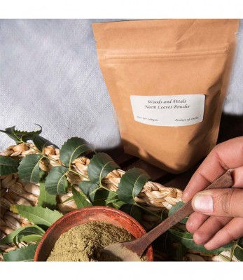 Woods and Petals Organic Neem Leaves Powder For Skin and Hair