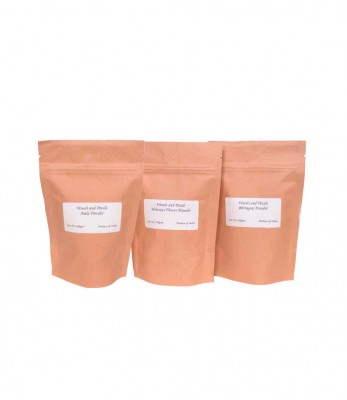 Woods and Petals Amla Hibiscus Bhringraj Powder ( Set of 3 )