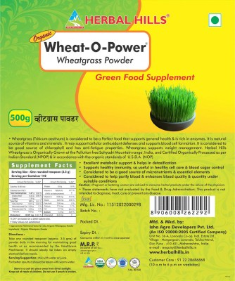 Herbal hills Wheat-O-Power 500 Gm (Value Pack) Powder