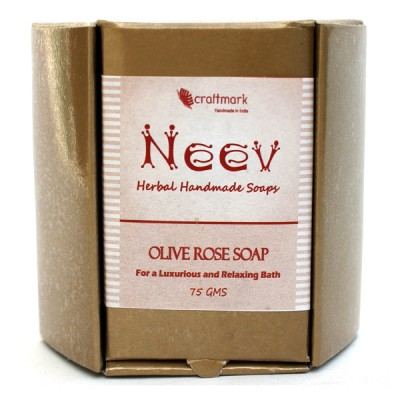 Neev Herbal Olive Rose Handmade Soap- For a Luxurious and Relaxing Bath
