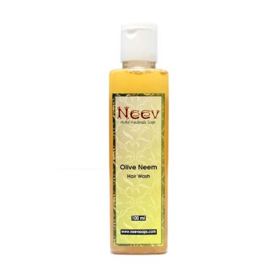 Neev Herbal Olive Neem Hair Wash- For Clean and Glossy Hair