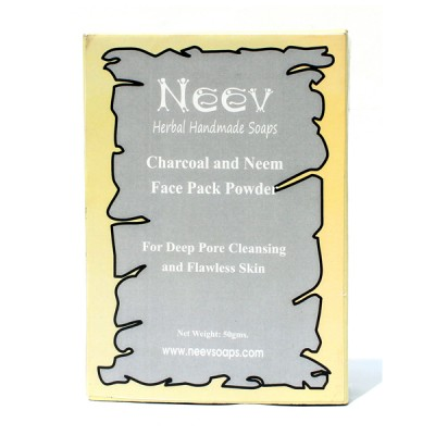 Neev herbal Charcoal and Neem Face Pack For Deep Pore Cleansing and Flawless Skin