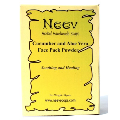 Neev herbal Cucumber and Aloe Vera Face Pack Powder Soothing and Healing
