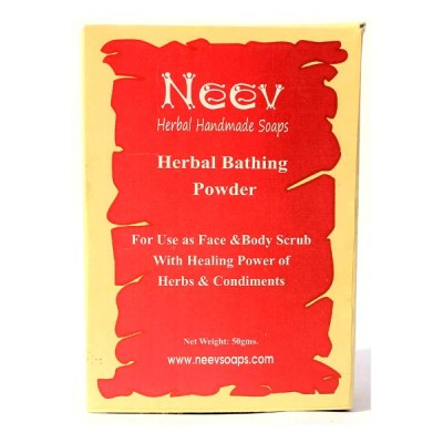 Neev Herbal Bathing Powder For use as face and body scrub With healing power of herbs and condiments