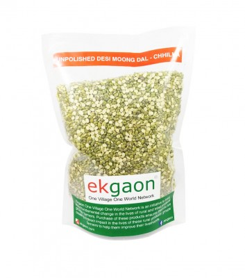 Ekgaon Unpolished Desi Moong Dal - Chhilka