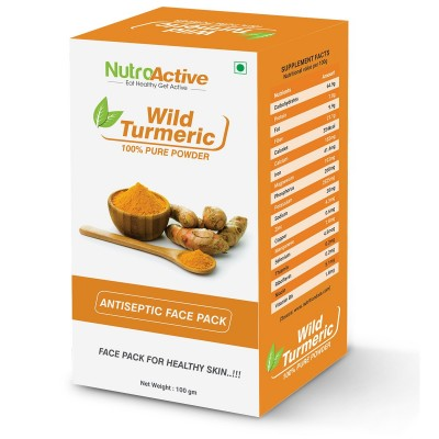 Nutroactive Wild Turmeric Face Pack Powder (Jangli Haldi Powder)