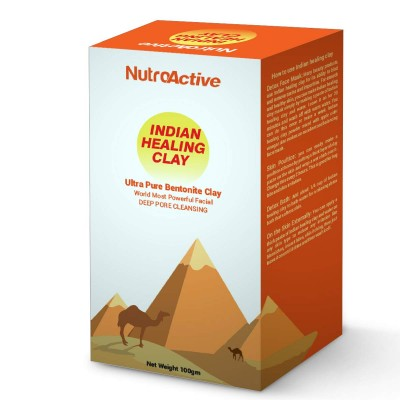 NutroActive Ultra Pure Bentonite Clay (Indian Healing Clay) Powder