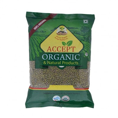 Accept Organic Moong Whole 500 gm