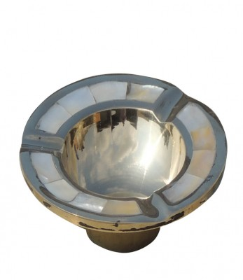 Brass gift center Brass Ash Tray Studded with Seep - 4 inch