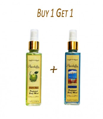 Ayurshakha Naturals Perfumed Body Mist Exotic Appy (Buy 1 Get 1)