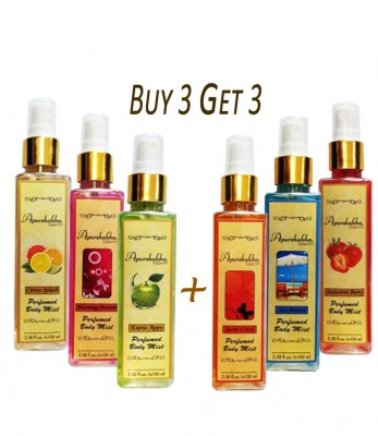 Ayurshakha Naturals Perfumed Body Mist Blooming Passion - Exotic Appy - Citrus Splash (By 3 Get 3)