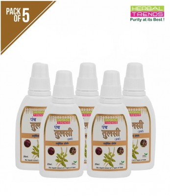 Herbal Trends Panch Tulsi Drops Pack of 5