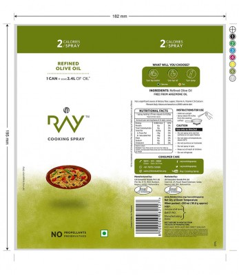 Ray Health  Cooking Spray - Olive
