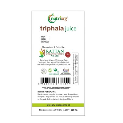 Nutriorg Triphala Juice 500ml