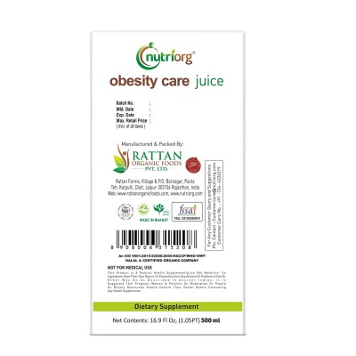 Nutriorg  Obesity Care Juice  500ml