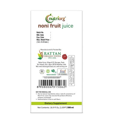 Nutriorg Noni juice 500ml