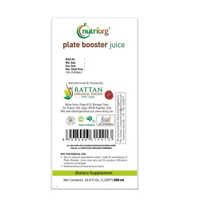 Nutriorg Plate Boostor Juice 500ml