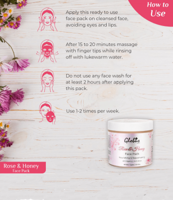 Globus Naturals Rose & Honey Nourishing & Rejuvenating Face Pack 125gms