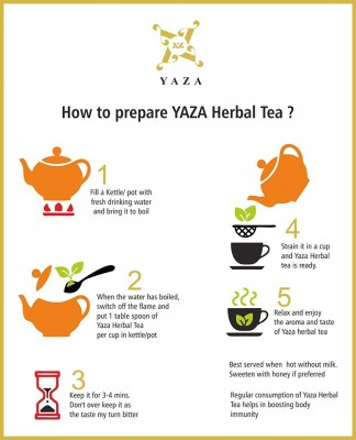 Yaza Herbal Arjuna Tea (50Gms) Organic Ancient Healer & Immunity Booster