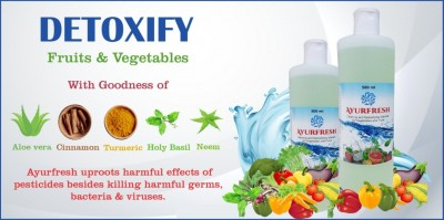 PHS Ayurfresh Cleaning and Detoxifying Solution for Vegetables and Fruits