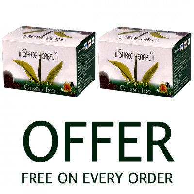 Buy Shree Herbal Growth Oil (Pack of 2) and Get 1 Pack of Organic Green Tea FREE