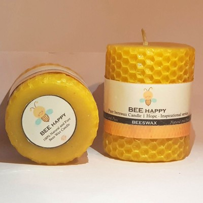 Pratha Naturals Pure Beeswax Candle | Hope – Inspirational series (pack of 2)