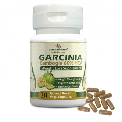DEEP AYURVEDA | GARCINIA CAPSULE | WEIGHT LOSS SUPPORT | 30 EXTRACT BASED VEG. CAPSULE | PACK OF 1