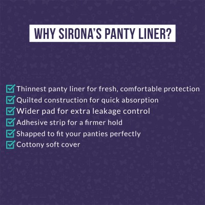 SIRONA Ultra-Thin Premium Panty Liners (Regular Flow) – 30 Counts - Small