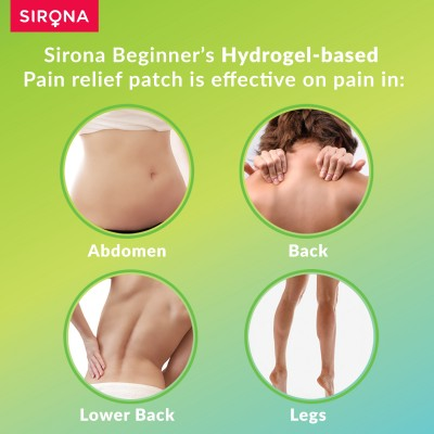Sirona Teens Period Pain Relief Patches with Hydrogel Properties - 5 Patches