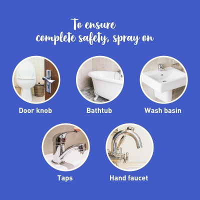 PeeBuddy Toilet Seat Sanitizer   Before and After Toilet Spray, Deodorizer and Disinfectant - 100 ml