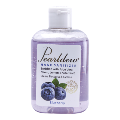 IKON Pearldew Blueberry Fragrance Hand Sanitizer (Gel) | , effective skin cleanser,with conditioners and moisturizing agents | Keep hands feeling refreshed and reinvigorated
